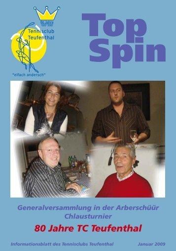 TopSpin 1/09 - Tennisclub Teufenthal