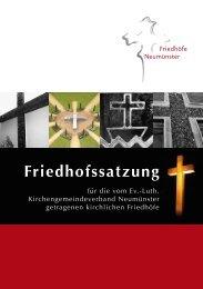 Friedhofssatzung - Kirchliche Friedhöfe Neumünster