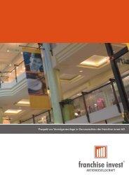 Franchise Invest Wertpapierprospekt 2007-10-15 - Anleihen-Finder.de