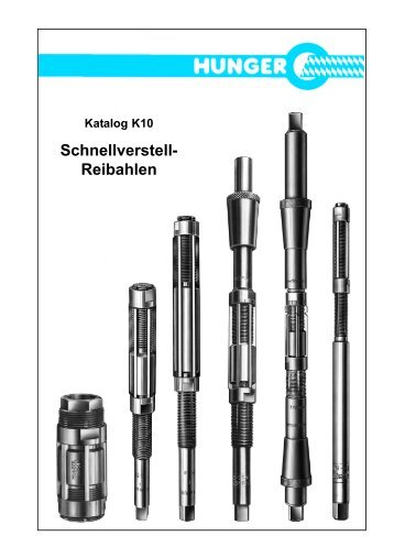 Reibahlen Katalog K10 - Alexander Siftar KG