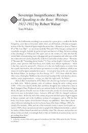 Writings, 1912-1932 by Robert Walser - Tom Whalen