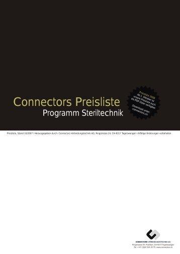 Connectors Preisliste - CONNECTORS Verbindungstechnik AG