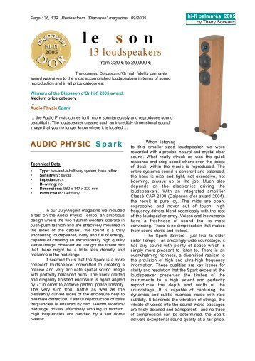le s on - Audio Physic