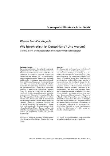 Wie bürokratisch ist Deutschland? Und warum? - der moderne staat