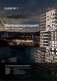 Wertpapierprospekt Cloud N o 7 GmbH, Stuttgart