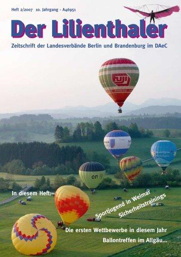 In diesem Heft: Sportjugend in Weimar ... - lilienthaler-online