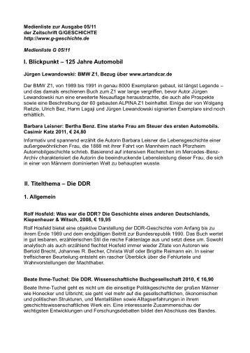 Die DDR - G/Geschichte