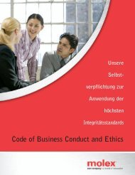 über den molex code of business conduct and ethics