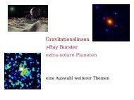 Gravitationslinsen, Gamma Ray Burster, Exoplaneten