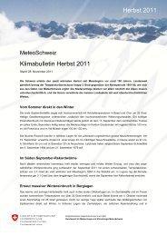 Klimabulletin Herbst 2011 Herbst 2011 - SLF