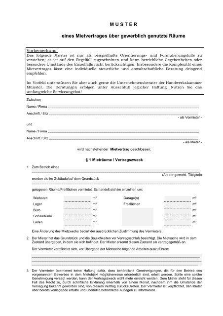 Professionell Haus Grund Mietvertrag Fur Gewerberaume 4