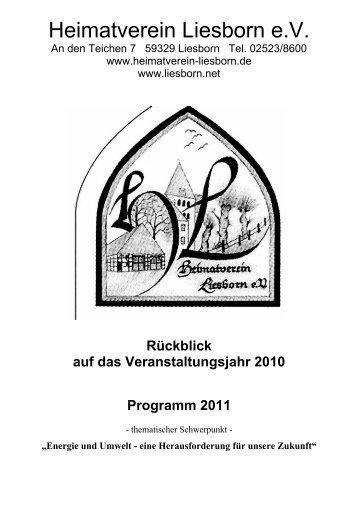 Heimatverein Liesborn e.V. - bei base-one Mediendesign