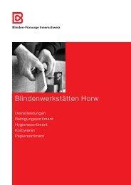 Katalog 2013 - Blindenheim Horw, Online-Shop