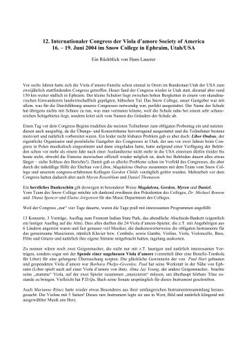 Pdf des Berichtes zum Kongress - Viola d'amore Society of America