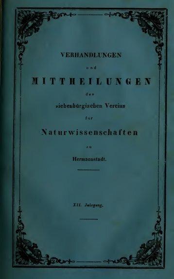 Verhandlungen und Mitteilungen des ... - Museu Nacional