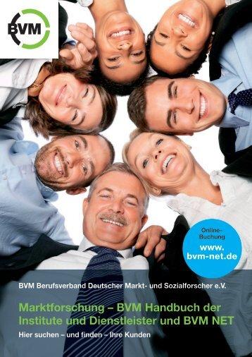 Marktforschung – BVM Handbuch der Institute und Dienstleister und ...