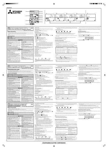 Mitsubishi Electric Air Conditioner Remote Control Manual