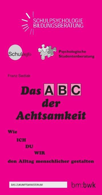 ABC der Achtsamkeit - Schulpsychologie
