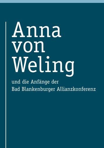 Anna von Weling und die Anfänge der Bad Blankenburger ...