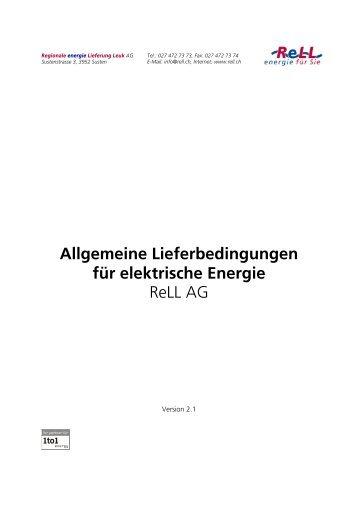ReLL AG, Allgemeine Lieferbedingungen - Regionale ...