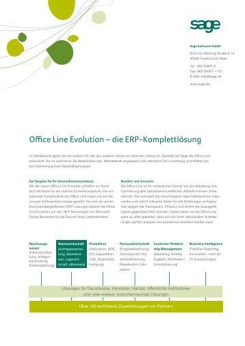 Office Line Evolution – die ERP-Komplettlösung