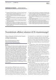 Nonskeletale effekter relateret til D-vitaminmangel - Ugeskrift for ...