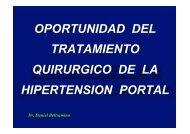 oportunidad del tratamiento quirurgico de la hipertension portal