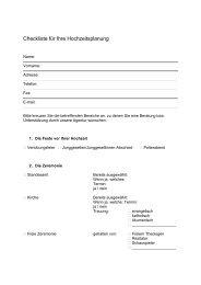 Checkliste für Ihre Hochzeitsplanung - Hochzeiten in Dresden