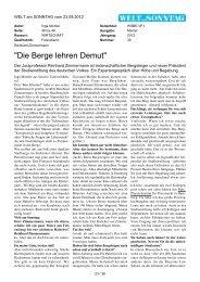 Die Berge lehren Demut - Max-Planck-Institut für ausländisches und ...