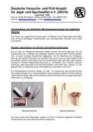 Verwendung von bleifreien Büchsengeschossen für jagdliche Zwecke