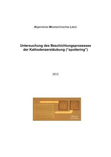 Untersuchung des Beschichtungsprozesses der ... - IMPT