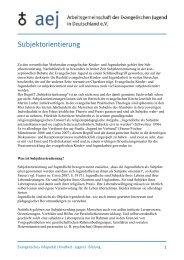 Subjektorientierung - Arbeitsgemeinschaft der Evangelischen Jugend