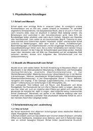 1. Physikalische Grundlagen - Technische Akustik
