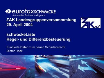 schwackeListe – Differenz- und Regelbesteuerung - ZAK eV