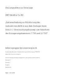 Faktenerhebung zur Rückholung der radioaktiven Abfälle ... - PTKA