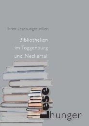 Broschüre zu den Bibliotheken und der VLT Toggenburg - Lesehunger
