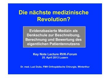 Absolute Risikoreduktion - RVK-Forum