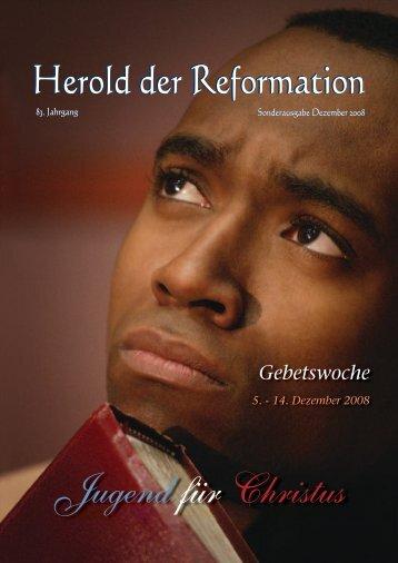 Gebetslesung Dez. 2008 - Gemeinschaft der Siebenten-Tags ...