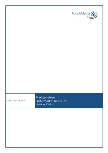 Marktanalyse Hotelmarkt Hamburg - Lloyd Fonds AG
