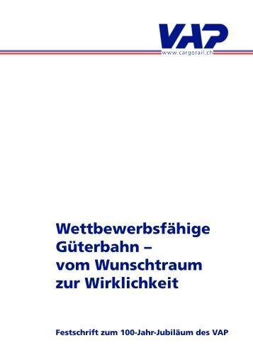 Festschrift zum 100-Jahr-Jubiläum des VAP - ERFA