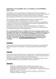 Maßnahmen der Jugendhilfe, die zur Vermeidung von ...
