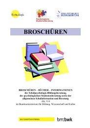 BROSCHÜREN - Schulpsychologie