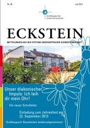 Eckstein Nr. 36 - Großheppacher Schwesternschaft