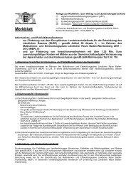 Merkblatt Informations - Naturpark Südschwarzwald