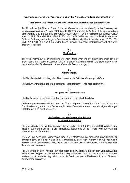 7424. OrdnungsbehVOAufrechterhoeffSuOWochenm.pdf - Iserlohn