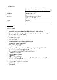 EINLADUNG Sitzung: Ausschuss für Bauen, Umwelt ... - Stadt Viersen