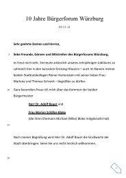 10 Jahre Bürgerforum Würzburg - Bürgerforums Würzburg