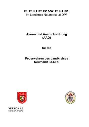 Alarm und Ausrückeordnung Neumarkt - Freiwillige Feuerwehr Dietfurt