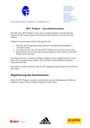 BFV Widgets - TYPO3 Forge