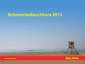 Folien Tauchphysik, Streckentauchen - Ronald Wagner